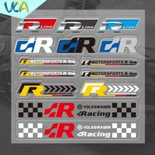12x12cm R R-Line Racing Sport Multicolor Sticker Set Refitting Car Styling Decals DIY Window Exterior Interior Decor for VW