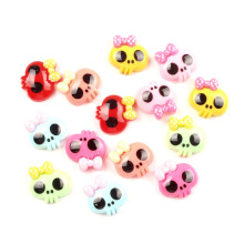 LF 50Pcs Mixed Resin Skull Decoration Crafts Flatback Cabochon Embellishments For Scrapbooking Kawaii Cute Diy Accessories