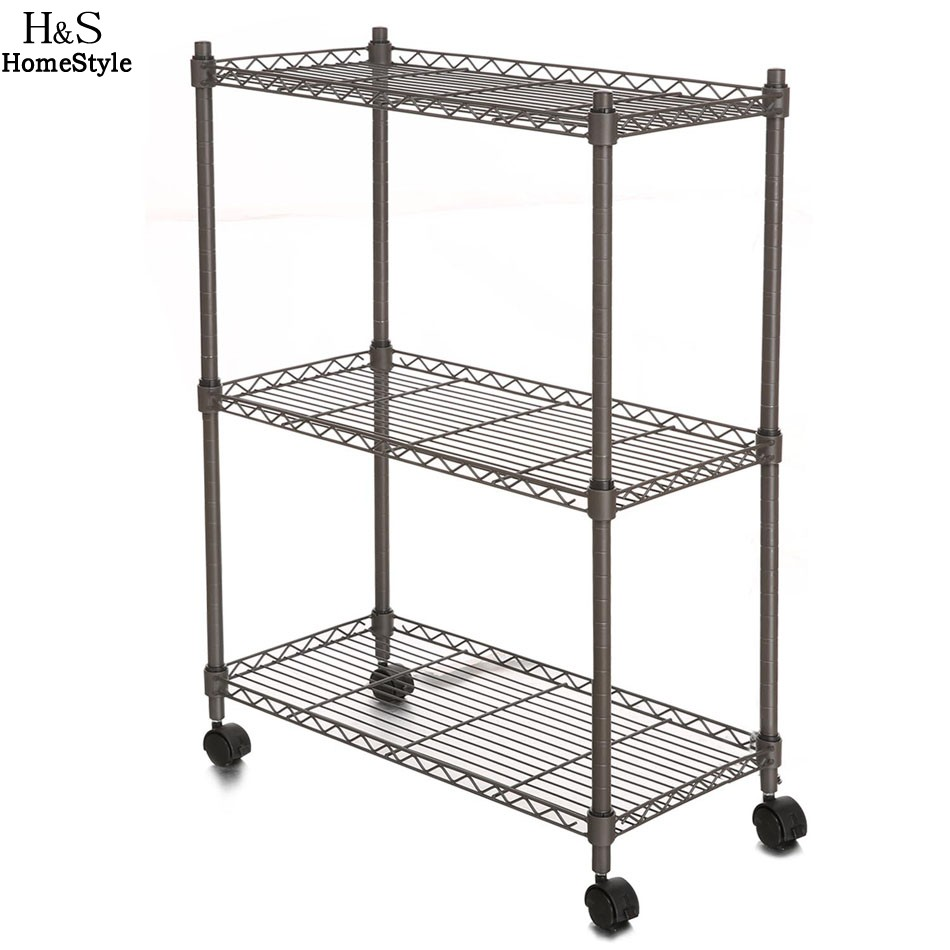 homdox 23 4 x 11 7 x 33 5 inch 3 tier metal wire shelf. Black Bedroom Furniture Sets. Home Design Ideas