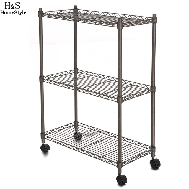 homdox 234 x 117 x 335 inch 3 tier metal wire shelf shelving unit modern - Wire Shelving Units