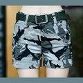 Женщины военный камуфляж горячие шорты Женские девушки Боевой Мини шорты комбинезоны джинсы шорты