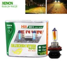 XENCN H11 12V 55W PGJ19-2 2300K Golden Eyes Super Yellow Light Halogen E1 DOT Car Bulbs Fog Lamp for mercedes toyata honda