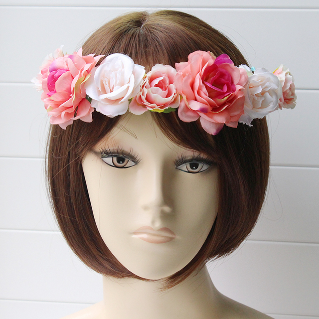 Daisy Peony Womens Bohemian Floral Headbands Flower Garland Summer