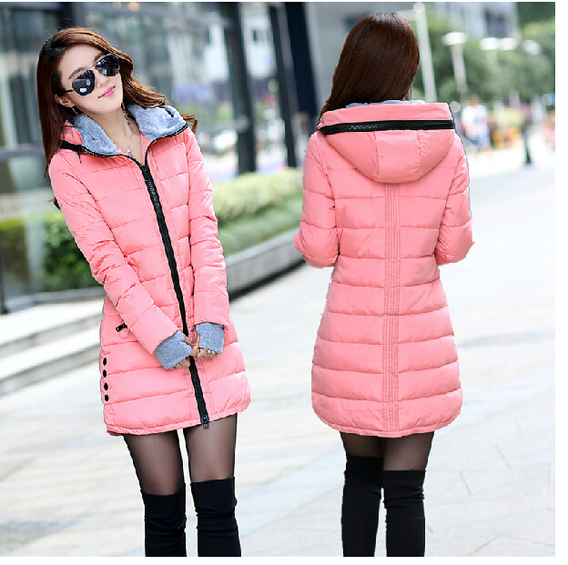 2015 wadded jacket female winter jacket women outerwear slim girl ...