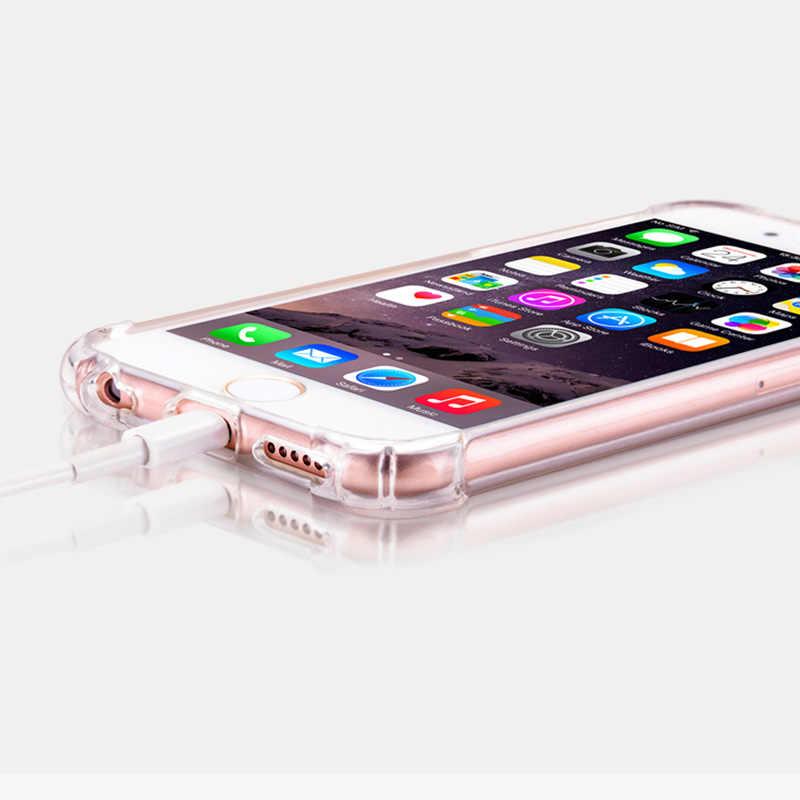 Роскошный lovecom прозрачный мягкий чехол для телефона из ТПУ с защитой от противоударный Прочный чехол-накладка на заднюю панель для iPhone XS XR XS Max X 5S 6, 6 S, 7, 8plus, защитный чехол на телефон