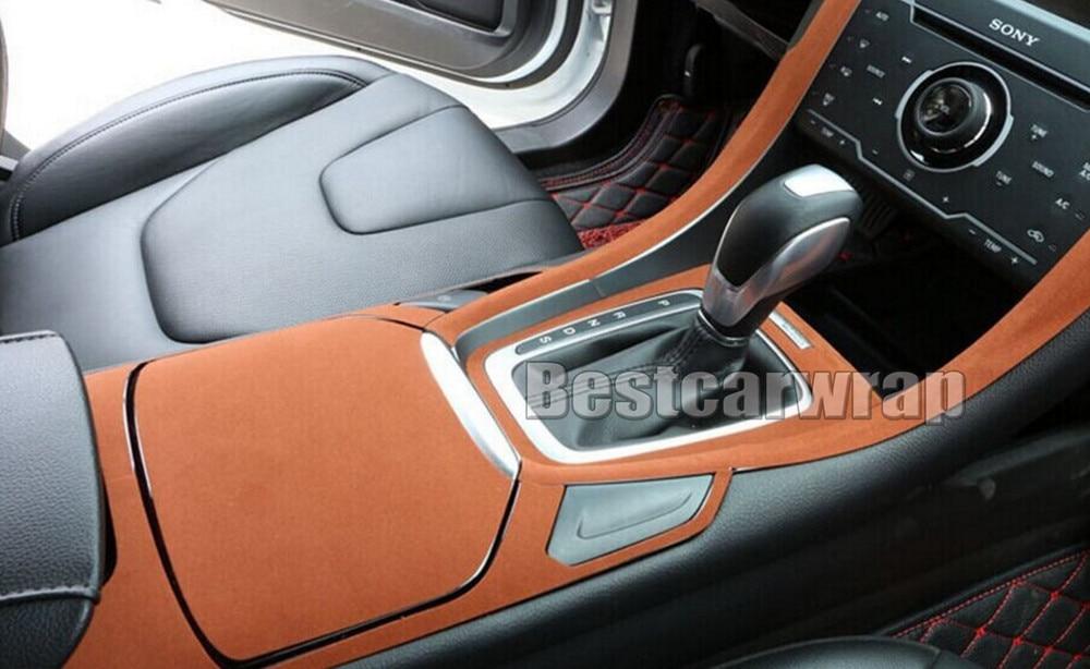 brun alcantara tissu film pour voiture int rieur toit