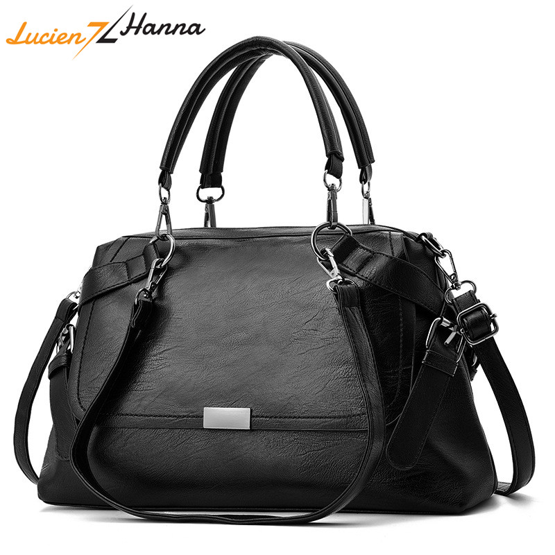 Women Leather Handbag Vintage Shoulder Bag Female Casual Tote Bags High Quality Lady Designer Handbags Crossbody Bag Sac A Main aosbos women shoulder bags multifunctional waterproof nylon handbag lady casual portable black tote bag female designer handbags