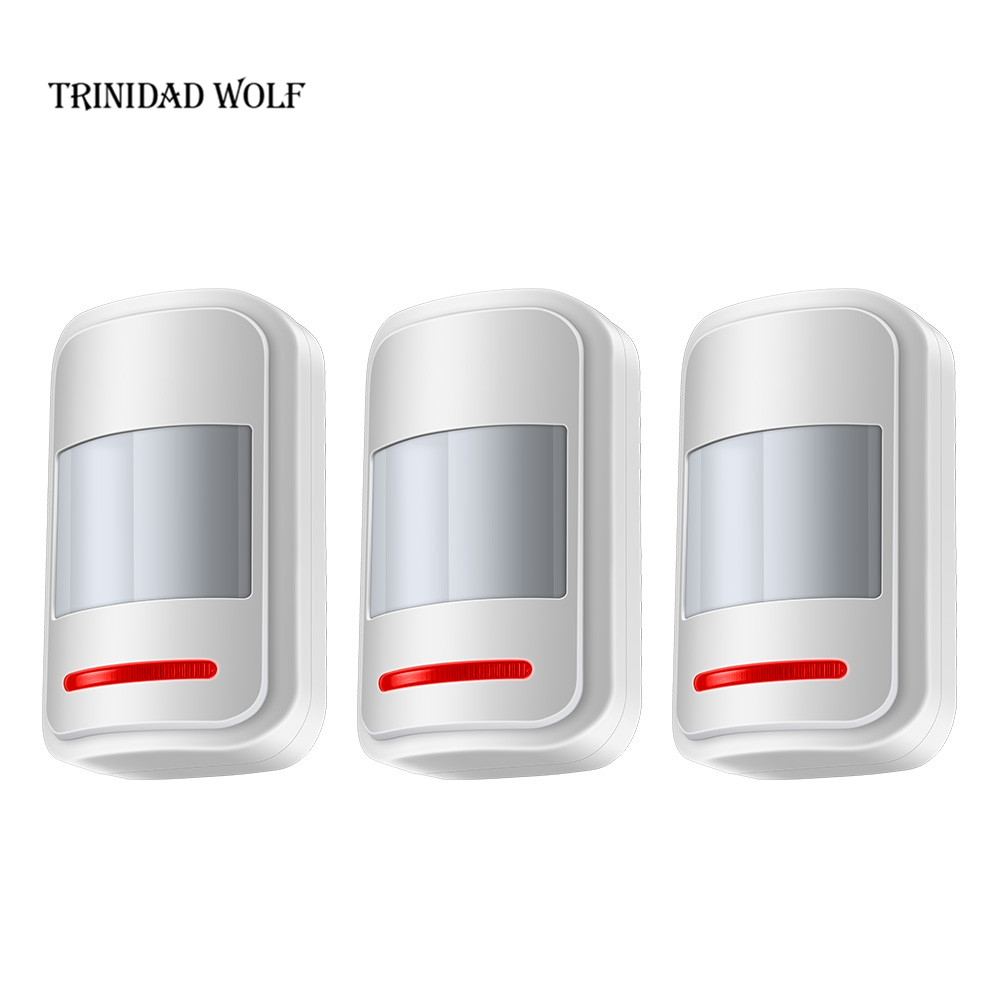 3pcs/Lot High-Grade Wireless 433MHz Infrared Detector PIR Motion Sensor Alarm System Accessory For G18 G19 W1 W2 Alarm System wireless pir motion detector sensor 433mhz for our alarm system free shipping