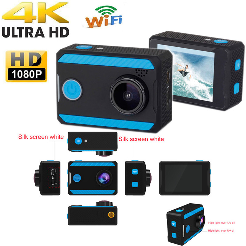 C3 Bicycle Surfing Skiing Swimming Ultra 4K H26 HD 1080P Action Sports Camera WiFi Waterproof Camcorder 30 Meters Under Water