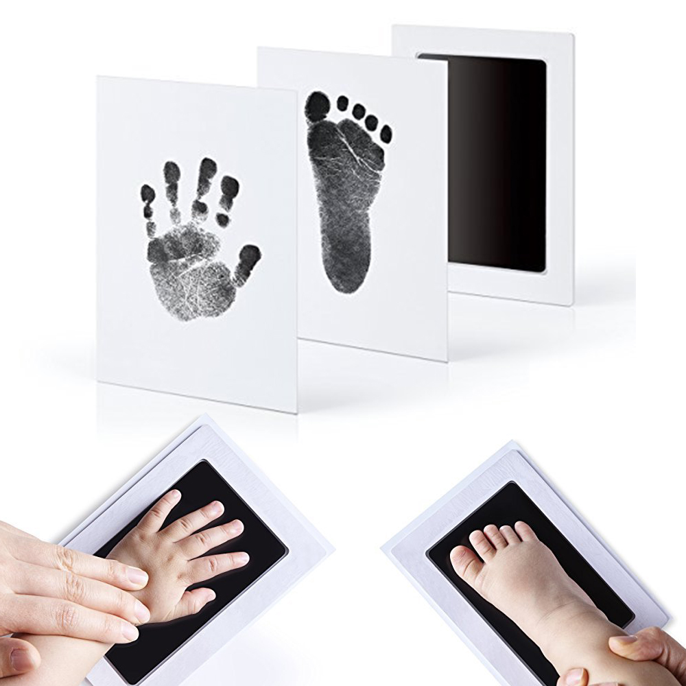 Baby Care Non-toxic Newborn Handprint Footprint Imprint Kit Casting Parent-child Hand Inkpad Watermark Infant Clay Toys
