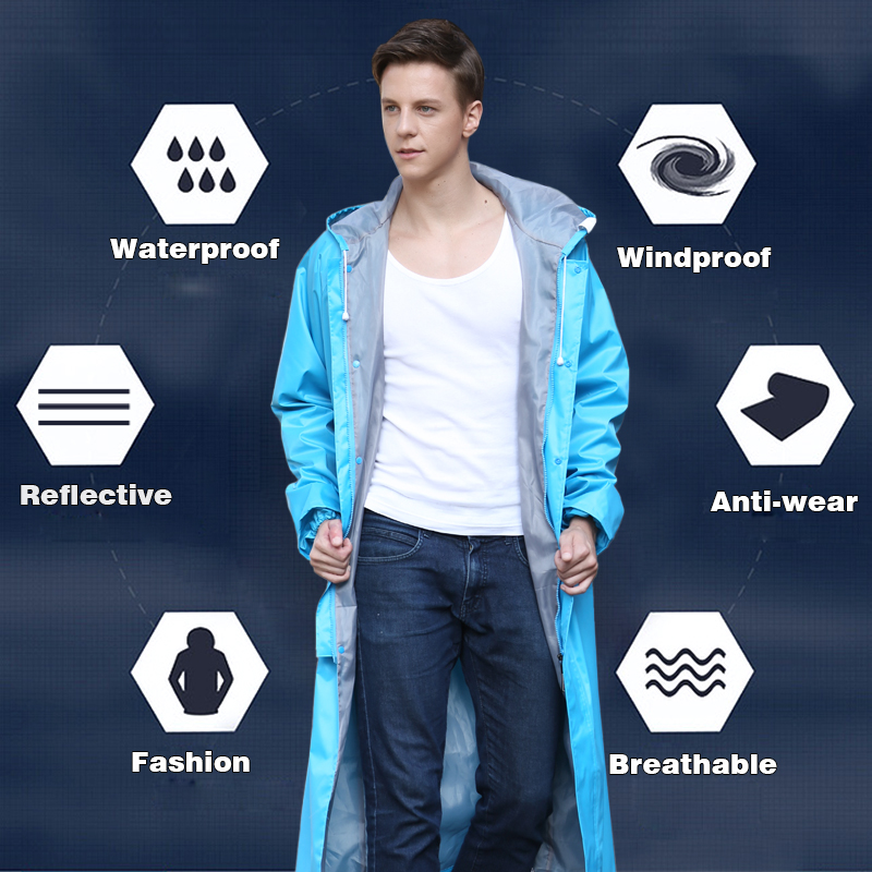 Rainfreem Raincoat Nipis Wanita / Lelaki Saluran Kalis Air Kalis Air Poncho Single-layer Rain Coat Wanita Rainwear Rain Gear Poncho