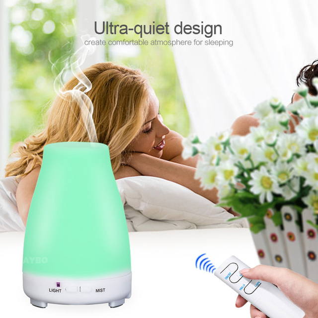 KBAYBO Ultrasonic Humidifier Aromatherapy Oil Diffuser Cool Mist Color LED Lights Esential Oil Diffuser Remote Control 2
