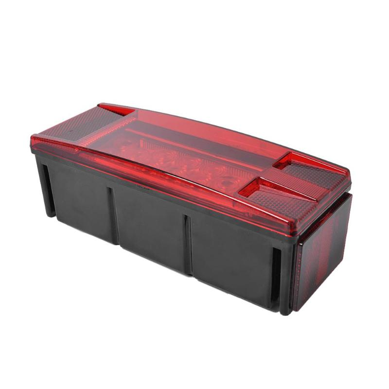 12V Submersible Trailer Rectangle LED Light Kit Red Stop Turn Tail Brake Lights SMD 5050 Car Lights Source For Trucks