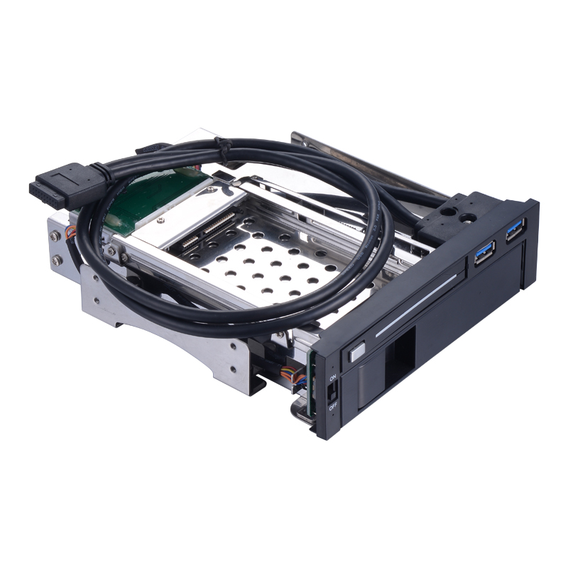 Uneatop ST7221U 5.25in Optical Drive Bay Internal 2.5in HDD bay and 3.5in SATA hdd mobile rack With two USB 3.0 Port nickel bay nick