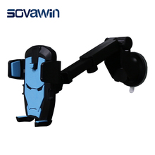 Sovawin Universal Retractabe Iron Man Windshield Automatic Lock Car Mobile Phone Adjustable Holder Stand for 4.0-5.5′ Smartphone