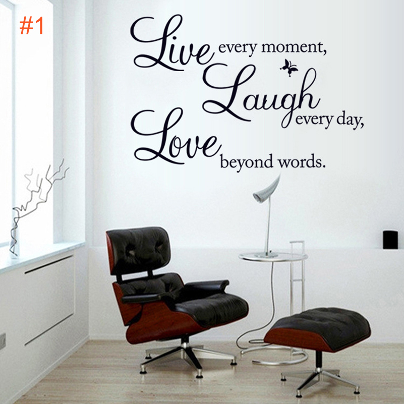 Live Laugh Love English Letter Wall Sticker Home Decor Living Room Diy Removable Kitchen Sticker Red Lip Wall Art For Girl Room Sticker City Art Installart Campos Aliexpress