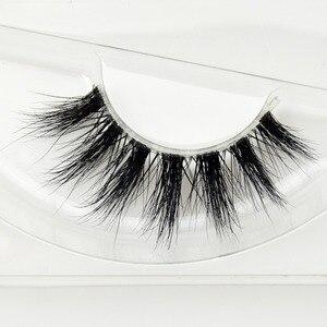 Image 2 - Visofree Mink Lashes 3D Mink Eyelashes Invisible Band Natural Black Mink False Eyelash Full Strip cilios posticos Reusable F41