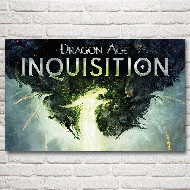Dragon Age Inquisition Art Silk Fabric Poster Prints Picture Home Wall Decor Printing 12x19 15x24