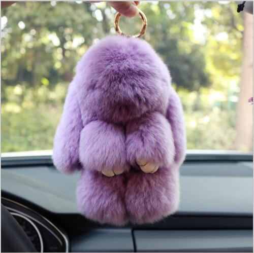 Wholesale Trendy Rabbits Fur Cartoon Rabbits Shape Handmade Animals Pendants Diy Jewelry Keychain/Bags Decoration Accessory
