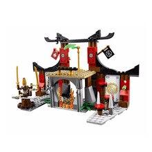 WAZ Compatible Legoe Ninjagoes 70756 Bela 10319 214pcs Ninjago Dojo Showdown Figure building blocks Bricks toys for children
