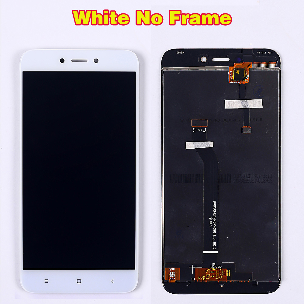 HTB1R4fqUcfpK1RjSZFOq6y6nFXaO 100% Tested LCD Display For Xiaomi Redmi 5A 5.0 inch Digitizer Sensor Glass Assembly touch screen frame with Free Tempered Glass