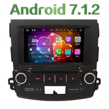 "8"" Quad Core Android 7.1 2GB RAM BT 4G Wifi DAB+ Car DVD Player Radio GPS Stereo For Mitsubishi Outlander/Citroen C-Crosser"