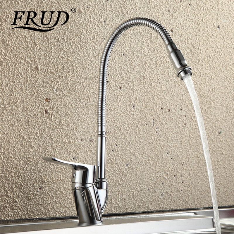 Frud Solid Kitchen Mixer Cold and Hot flexible Kitchen Tap Single lever Hole Water Tap Kitchen Faucet Torneira Cozinha r43101Frud Solid Kitchen Mixer Cold and Hot flexible Kitchen Tap Single lever Hole Water Tap Kitchen Faucet Torneira Cozinha r43101