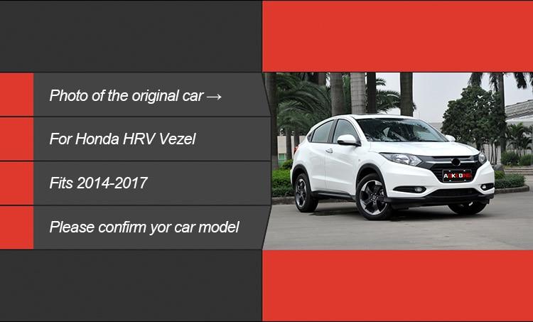 Fit Honda HRV HR-V 2018 Crossover Front Running Dayligh LED DRL Cover 1 Set