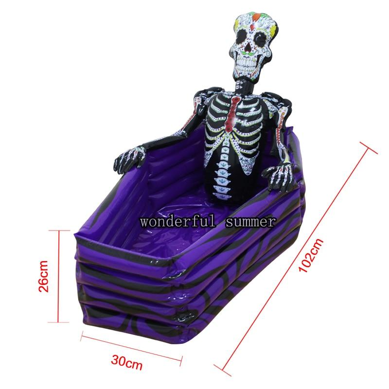 102cm milžinas kaukolė pripučiamas aušintuvas skeleto gėrimas - Vandens sportas - Nuotrauka 6