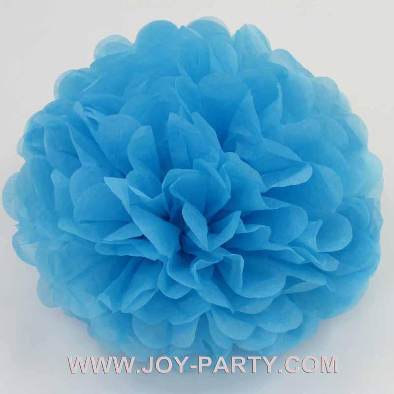 10pcs sky blue Pom Poms Tissue Paper Flower Garland Shop ...