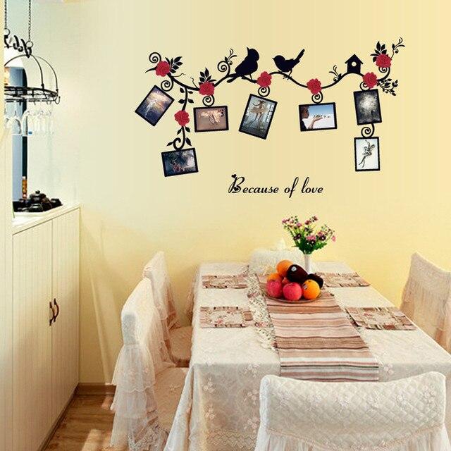 Hot Wallpaper Removable Bird Photo Wall Stickers Decals Art Mural Vinyl Home Room Decor Accessories