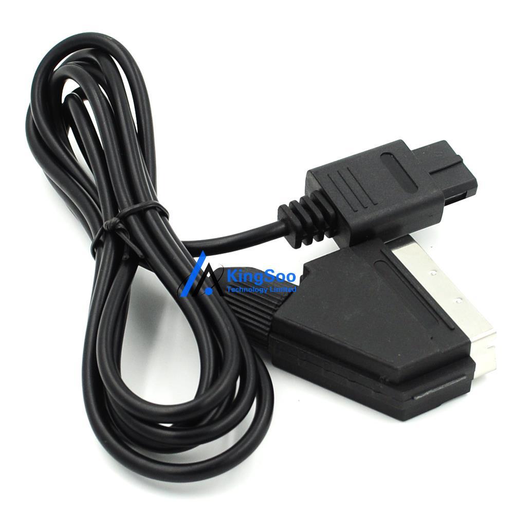 1,8 м AV TV видео игры разъем SCART RGB кабеля для nintendo 64 SNES Gamecube консоли PAL