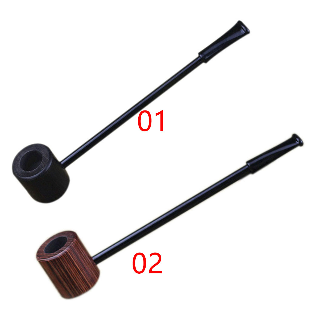 Practical Grade Long Ebony Wood Smoking Pipes Popeye Tobacco Cigarettes Cigar Pipes