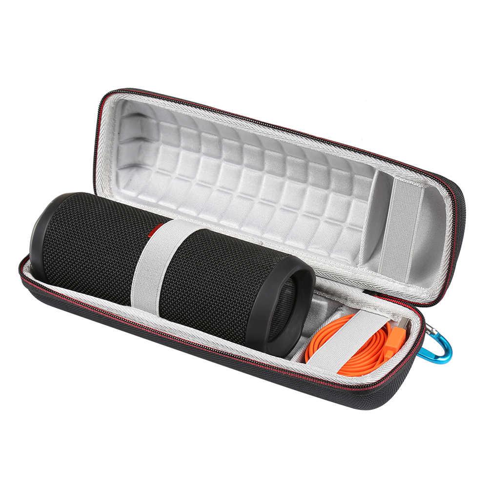 Najnowszy podróży ochronna bezprzewodowa Bluetooth głośniki skrzynka dla JBL klapki 4 flip4 dodatkowej przestrzeni dla Plug & kable do przechowywania torby na zamek błyskawiczny