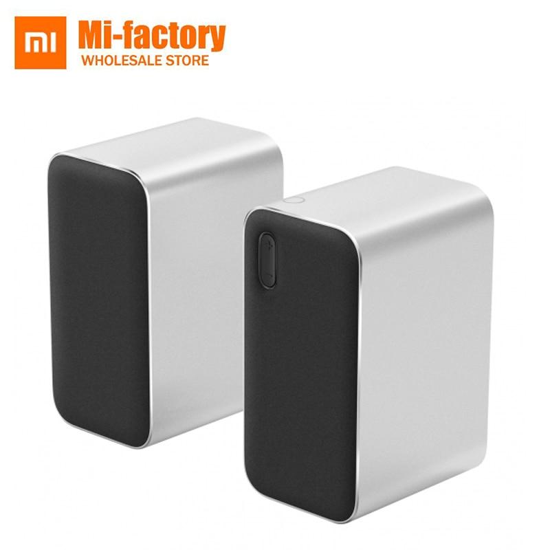 Nouveau XiaoMi Mijia Bluetooth haut-parleur d'ordinateur Bluetooth 2.0 LED DSP soutien appels vocaux pour téléphone tablette pc pour xiami smart home