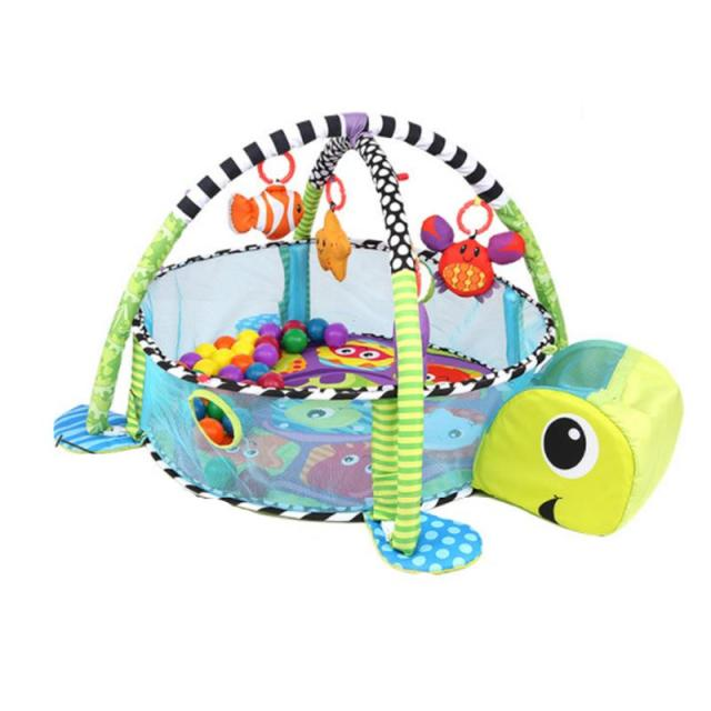 3-in-1 Baby Cartoon Toys Activity Gym Play Mat Kids Game Play Activity Gym Infant Floor Blanket Educational GymBaby & Toddler Toys