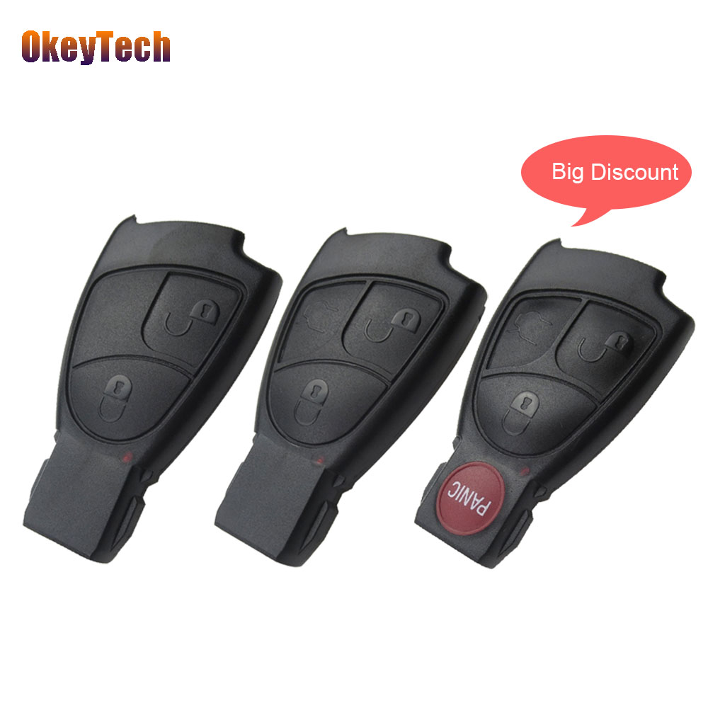 OkeyTech For Benz Mercedes B C E S ML SLK CLK Class Smart Key 2 3 4 Button Auto Remote Car Key Shell Cover Case Replacement Fob цена