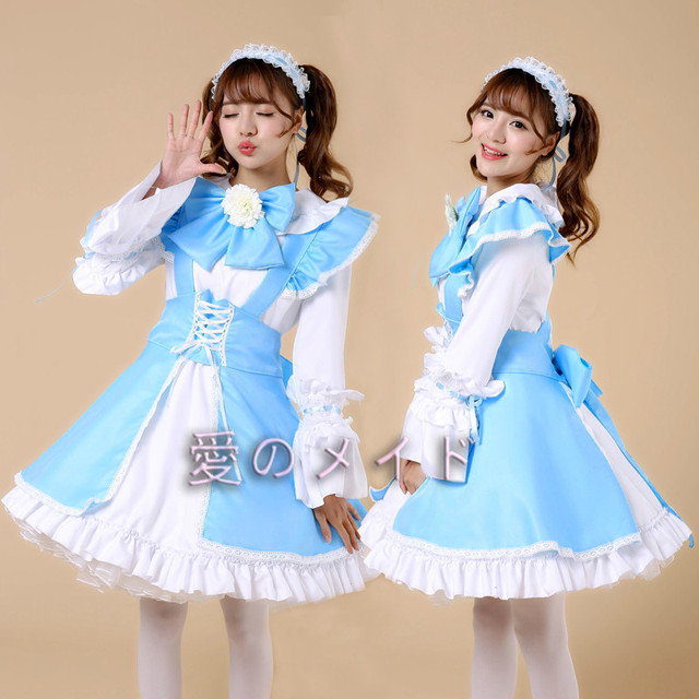 Sexy Japanese Maid Uniform Cosplay Costume Cute High Quality Dress