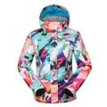 Crianças snowboard GSOU NEVE terno de esqui duplo placa fria quente à prova d' água à prova de vento roupas de esqui roupas de esqui Crianças meninas grossas