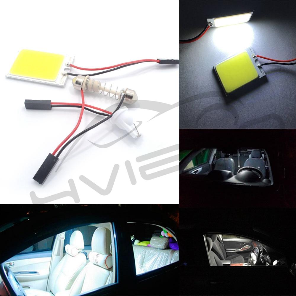 Hviero  White Red Blue T10 Cob 24 SMD 36 SMD Car Led Vehicle Panel Lamps Auto Interior Reading Lamp Bulb Light Dome Festoon BA9S DC 12v