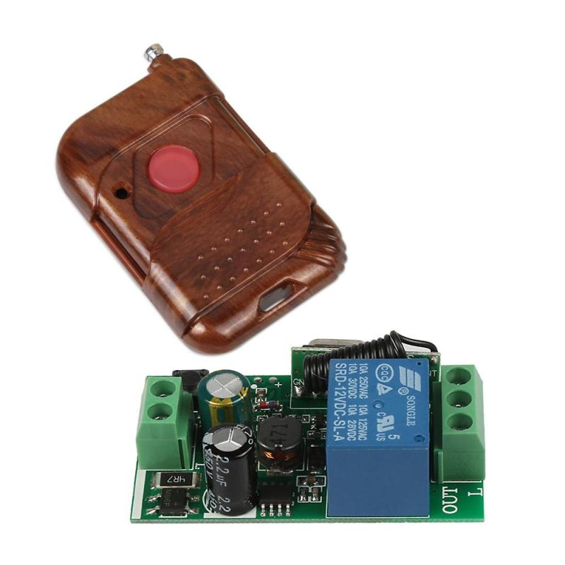 433Mhz Universal Wireless Remote Control Switch DC 12V 10A 1CH relay Receiver Module and RF Transmitter 433 Mhz Remote Controls wi fi роутер tp link tl wr1045nd tl wr1045nd