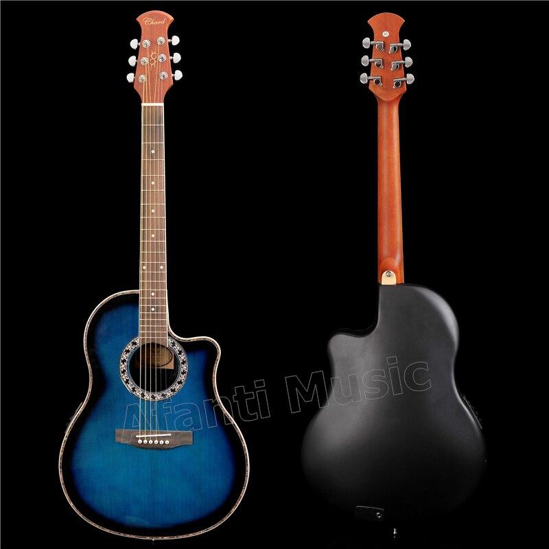 Хит! Afanti Music Super Roundback/задняя часть из углеродного волокна и боковая Акустическая гитара со светодиодным эквалайзером (ANT 134)