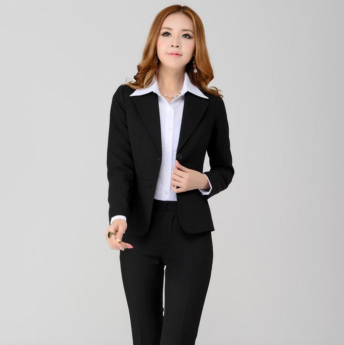 Popular Women's Black Pant Suit-Buy Cheap Women's Black ...