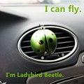 Carro-styling Ladybird Beetle Estilo de Saída de Ar Perfume Sólido Ambientador/Fly Joaninha Asas Movimento Auto Perfumes 100 Original