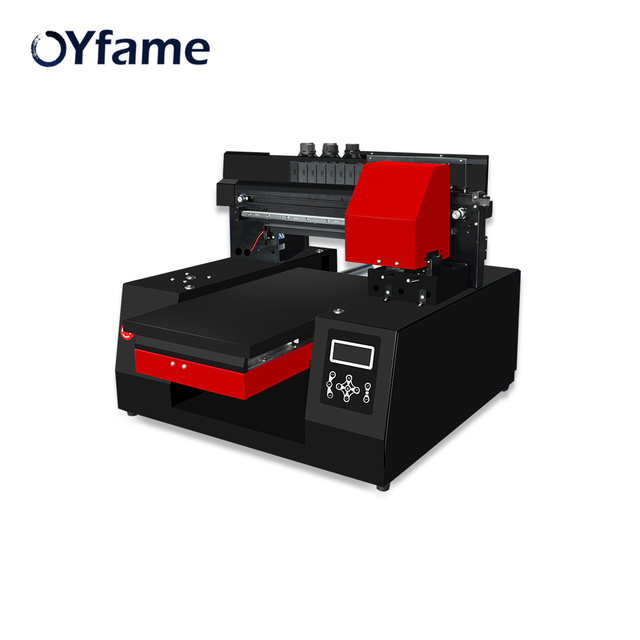 OYfame Automatic A3 3060 UV Flatbed Printer For Epson DX9 Print head Fast speed For Phone Case Metal TPU Glass Wood UV Printing