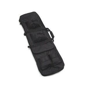 "Image 3 - 100 cm 40 ""אינץ זוגי כיסים SWAT הכפול טקטי גדול קיבולת תיק נשיאה שקיות עבור רובה Airsoft AEG אקדח צבא ירוק שחור"