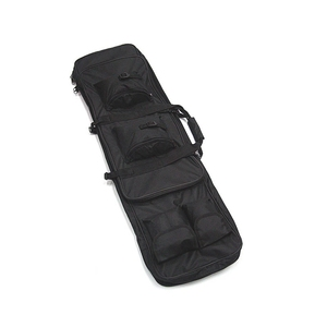 "Image 3 - 100cm 40"" inch Double Pockets SWAT Dual Tactical large capacity Carrying Case bags for Rifle Airsoft AEG Gun Army green Black"