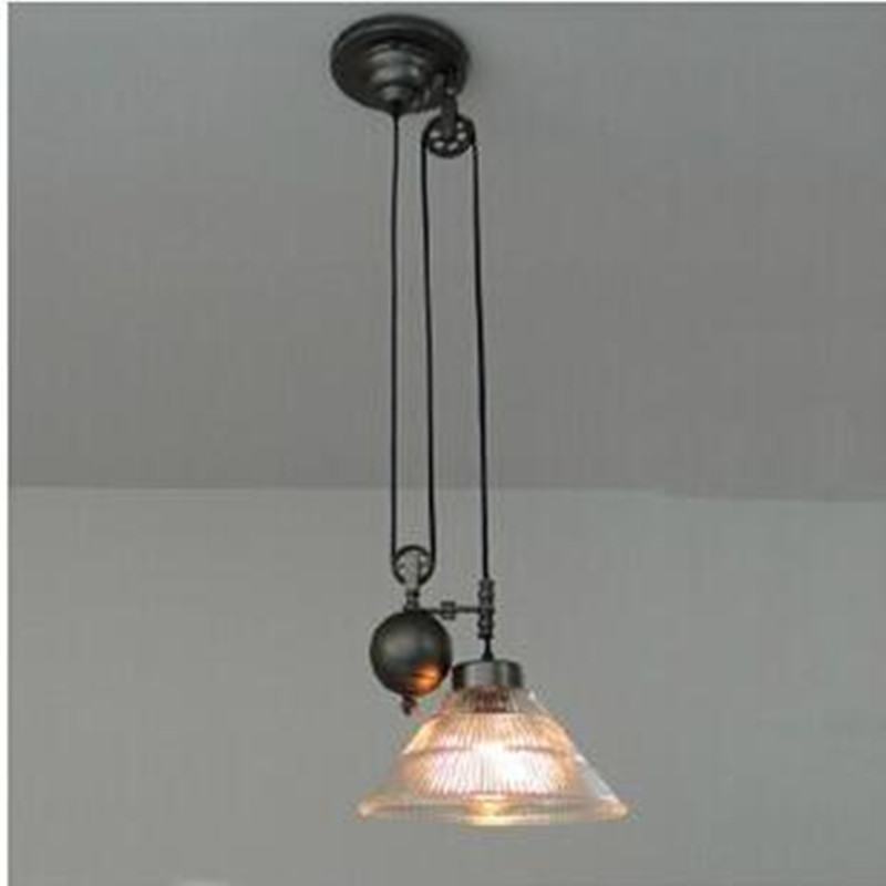 American retro nostalgia lamp lift glass mahjong lamp chandelier restaurant study lamp light material iron E27 AC110-240V european rural bird marble hemp rope chandelier cafe restaurant corridor balcony chandelier size 33 38cm e27 ac110 240v