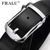 FRALU 2017 Designer Belts Belt Men First Layer Cowhide Belt Male Leather Buckle Casual Business Trousers