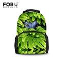 FORUDESIGNS Luxury Designer Green Animal Animal Printing Big Pack Backpacks For Men Teenages Travel  School Bags Casual Bag